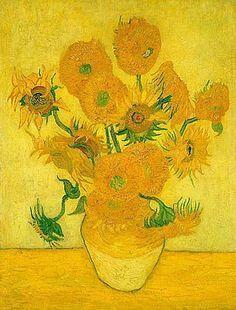 Gele zonnebloemen van Gogh