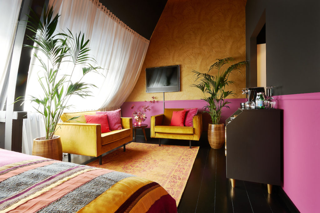 Interieurontwerp Hotel de Librije, met planten