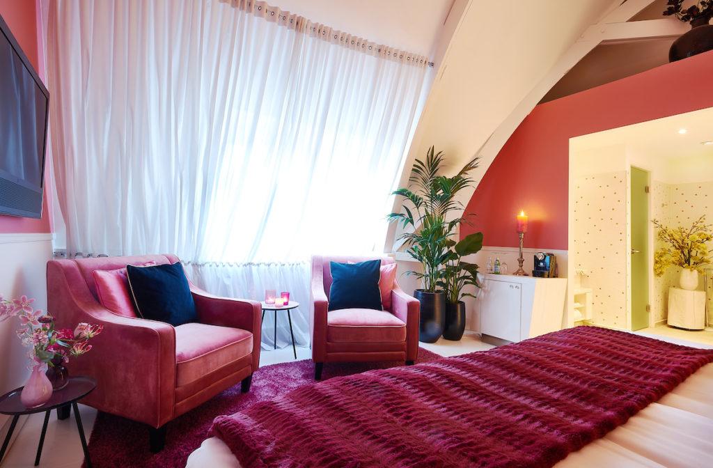 interieurontwerp Librije's Hotel zitje oud roze