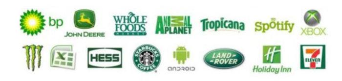 kleur in je bedrijf groene merk logos