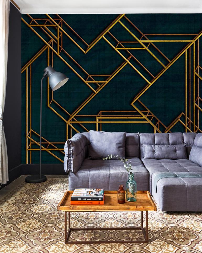 cosmopolitan luxury interieur met luxe behang