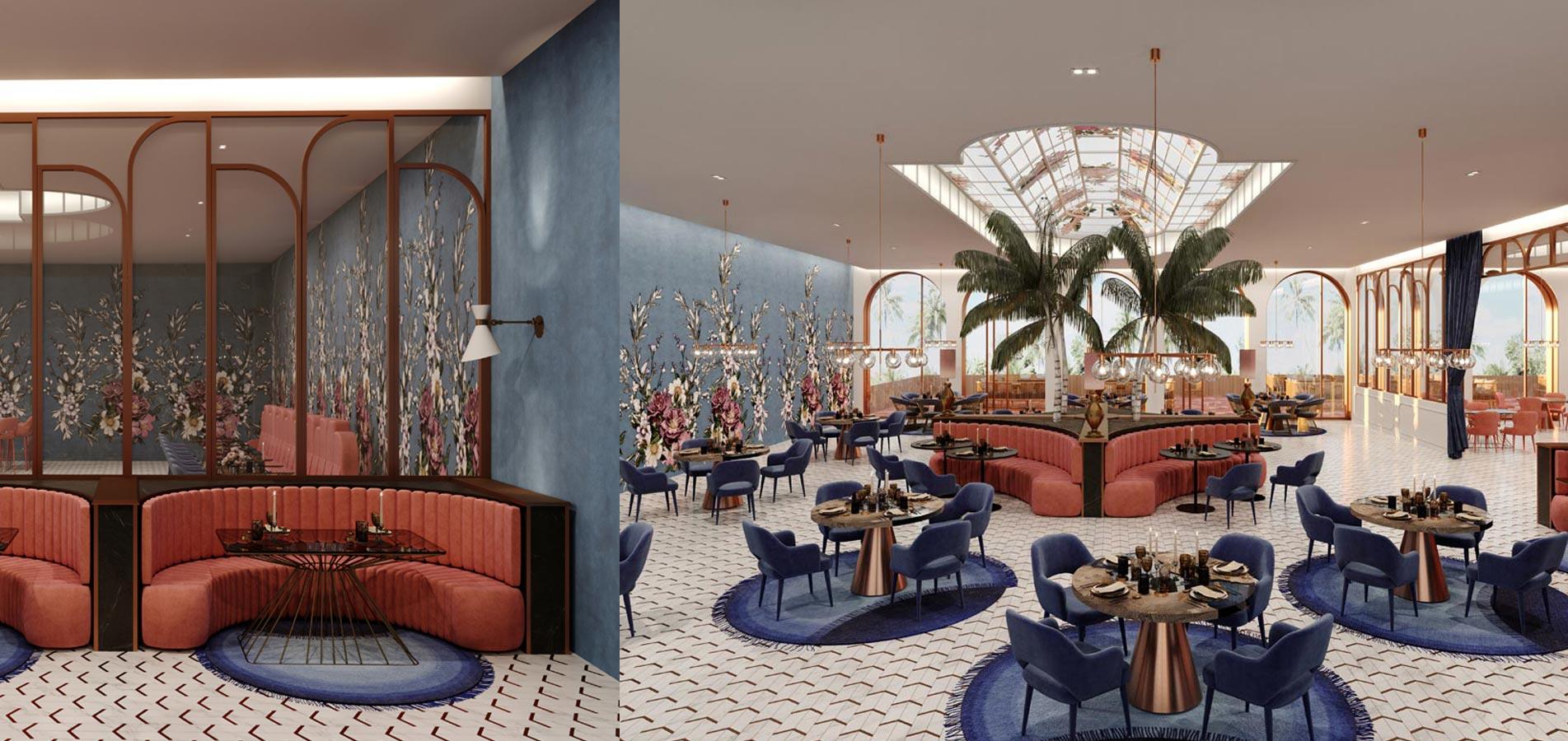 Restaurant Interieur design Ingrid van der Veen