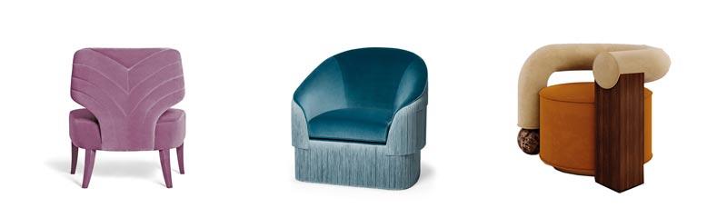 exlusieve design meubels fauteuil roze blauw oranje