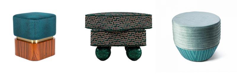 exlusieve design meubels poef luxe