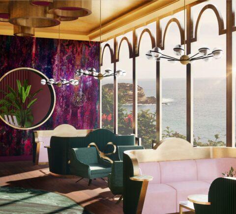 Hotel Lobby concept aan de kust