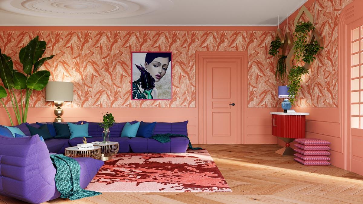 Interieur-designer-zalm-woonkamer