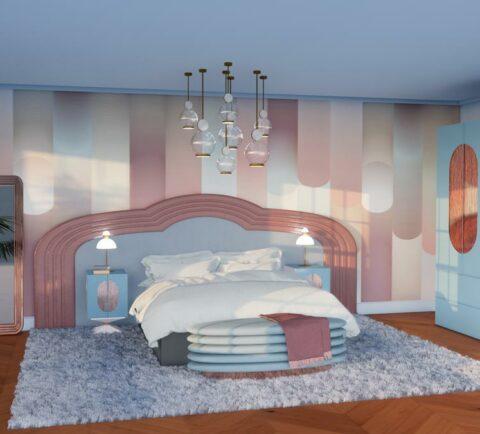 Slaapkamer-lichtblauw