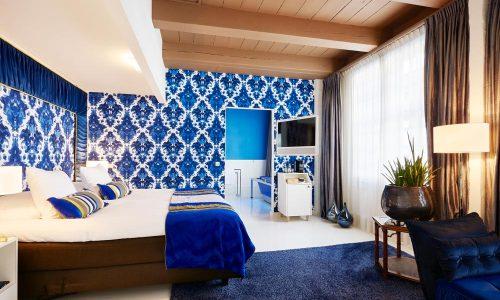 Chique-inrichting-slaapkamer-blauw